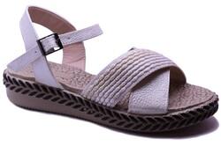 Ayakkabiburada - Ayakkabiburada 0121 Ortopedi Günlük Kadın Sandalet
