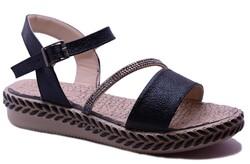 Ayakkabiburada - Ayakkabiburada 0122 Ortopedi Taban Günlük Kadın Sandalet
