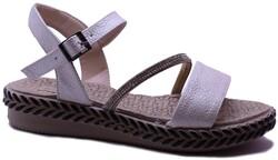 Ayakkabiburada - Ayakkabiburada 0122 Ortopedi Günlük Kadın Sandalet Ayakkabı