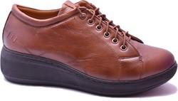 ISPARTALILAR - Ayakkabiburada 1416 Ortopedi Hakiki Deri Kadın Günlük Ayakkabı