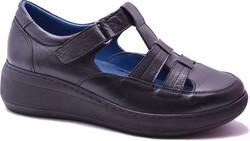 ISPARTALILAR - Ayakkabiburada 1421 Ortopedi Hakiki Deri Kadın Günlük Sandalet Ayakkabı