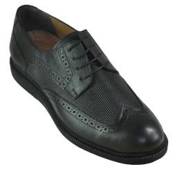 ISPARTALILAR - Ayakkabiburada 1756 Hakiki Deri Ortopedi Siyah Erkek Günlük Ayakkabı