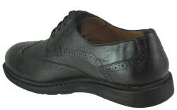 Ayakkabiburada 1756 Hakiki Deri Ortopedi Siyah Erkek Ayakkabı - Thumbnail