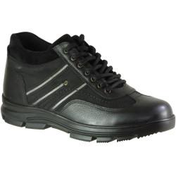 ISPARTALILAR - Ayakkabiburada 1775 Hakiki Deri Siyah Erkek Kışlık Bot Ayakkabı (40-44)