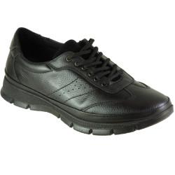 ISPARTALILAR - Ayakkabiburada 1777 Hakiki Deri Siyah Erkek Kışlık Ayakkabı Bot (40-44)