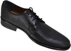 ISPARTALILAR - Ayakkabiburada 1790 Hakiki Deri Mat Siyah Klasik Erkek Ayakkabı