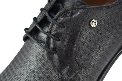 Ayakkabiburada 1790 Hakiki Deri Mat Siyah Klasik Erkek Ayakkabı