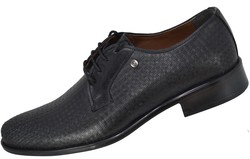 Ayakkabiburada 1790 Hakiki Deri Mat Siyah Klasik Erkek Ayakkabı - Thumbnail