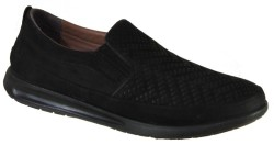 ISPARTALILAR - Ayakkabiburada 1844 Siyah Deri Ortopedi Erkek Ayakkabı (40-44)