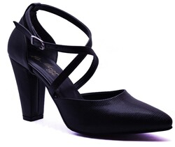 Ayakkabiburada - Ayakkabiburada 201 Bağlamalı Kadın Topuklu Ayakkabı