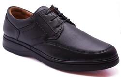 Ayakkabiburada - Ayakkabiburada 2020-209 Ortopedi Yumuşak Hakiki Deri Kışlık Erkek Ayakkabı