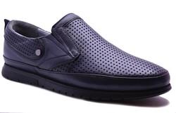 Ayakkabiburada - Ayakkabiburada 2020-45 Ortopedi Hakiki Deri Günlük Erkek Ayakkabı