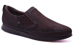 Ayakkabiburada - Ayakkabiburada 2020-46 Ortopedi Hakiki Deri Günlük Erkek Ayakkabı