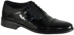 ISPARTALILAR - Ayakkabiburada 23 Hakiki Deri Parlak Siyah Erkek Klasik Ayakkabı (40-44)