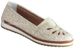 ISPARTALILAR - Ayakkabiburada 274 Ortopedi Deri Beyaz Bayan Günlük Ayakkabı (36-40)
