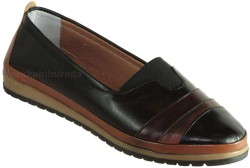 ISPARTALILAR - Ayakkabiburada 274 Ortopedi Deri Siyah Bayan Günlük Ayakkabı (36-40)