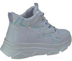 ISPARTALILAR - Ayakkabiburada 55 Bilekli Bayan Çocuk Beyaz Spor Ayakkabı (36-40)