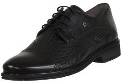 ISPARTALILAR - Ayakkabiburada Deri Siyah Bağlı Erkek Klasik Ayakkabı (40-44)