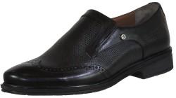 ISPARTALILAR - Ayakkabiburada Doğal Deri Siyah Erkek Klasik Ayakkabı (40-44)