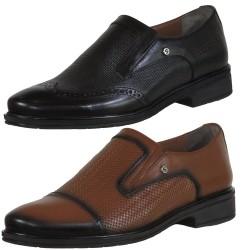 ISPARTALILAR - Ayakkabiburada Hakiki Deri Siyah Erkek Klasik Ayakkabı (40-44)