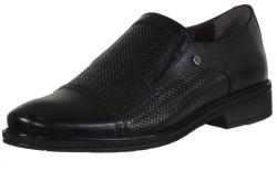 ISPARTALILAR - Ayakkabiburada Hakiki Deri Siyah Klasik Erkek Ayakkabı (40-44)