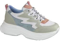 ISPARTALILAR - Ayakkabiburada Ortopedi Yüksek Taban Beyaz Bayan Spor Ayakkabı (36-40)