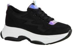 ISPARTALILAR - Ayakkabiburada Ortopedi Yüksek Taban Siyah Bayan Spor Ayakkabı (36-40)