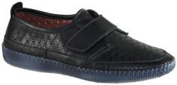 ISPARTALILAR - Ayakkabiburada Ortopedik Cırtlı Siyah Hakiki Deri Bayan Ayakkabı (36-40)