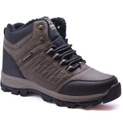 Ayakkabiburada - Ayakkabiburada X6 Ortopedi Kürklü Erkek Bot Ayakkabı