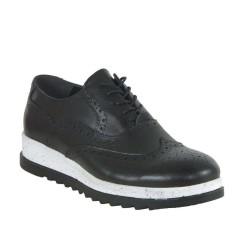 BANNER - Banner 5505 Ortopedi Hazır Taban Oxford Siyah Erkek Ayakkabı