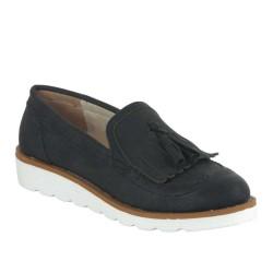 ISPARTALILAR - Belpino 019 Ortopedi Taban Bayan Günlük Siyah Ayakkabı