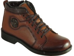 ISPARTALILAR - Boots 55 Rahat Taban Hakiki Deri Taba Erkek Bot Ayakkabı