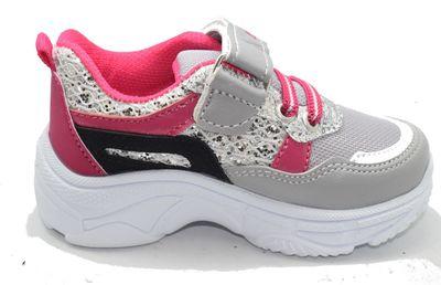 Callion 056 Ortopedi Taban Gri Kız Bebe Spor Ayakkabı (21-25)