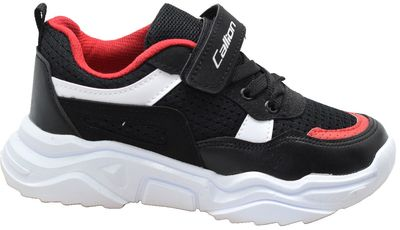 Callion 075 Ortopedi Taban Siyah Erkek Çocuk Spor Ayakkabı (26-35)