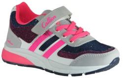Callion - Callion Rahat Mor Cırtlı Çocuk Kız Spor Ayakkabı