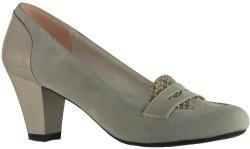 ISPARTALILAR - Capriss Rahat Nubuk Vizon Bayan Kısa Topuklu Ayakkabı (36-40)