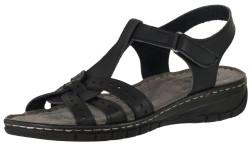 ISPARTALILAR - Carlaverde 060 Ortopedi Deri Siyah Bayan Terlik Sandalet (36-40)
