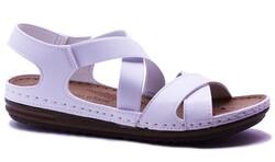 Carlaverde - Carlaverde 140741 Ortopedi Taban Kadın Sandalet Ayakkabı