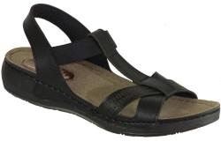 ISPARTALILAR - Carlaverde 150965 topuk Masajlı Siyah Bayan Terlik Sandalet (36-40)