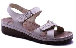 Carlaverde - Carlaverde 160107 Anatomik Rahat Siyah Kadın Sandalet Ayakkabı