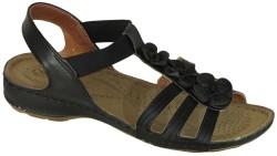 ISPARTALILAR - Carlaverde 8504 Ortopedi Siyah Bayan Terlik Sandalet (36-40)