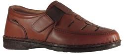ISPARTALILAR - Craft Shoes 184 Hakiki Deri Taba YAZLIK Erkek Günlük Ayakkabı