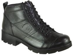 Riccardo Colli - Diego Carlotti 196 Ortopedi Fermuarlı Siyah Hakiki Deri Bayan Bot Ayakkabı