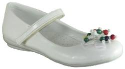 ISPARTALILAR - DSN 35 Beyaz Kız Çocuk Babet Ayakkabı (26-30)