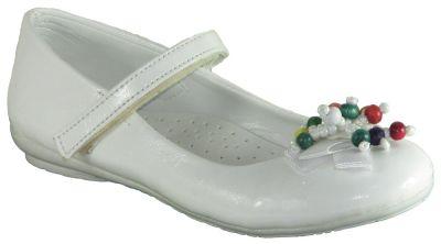 DSN 35 Beyaz Kız Çocuk Babet Ayakkabı (26-30)