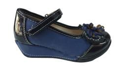 ISPARTALILAR - DSN Kız Çocuk Yarı Rugan Ortopedik Cırtlı Okul Ayakkabı