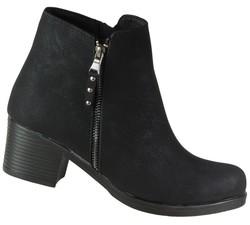 ISPARTALILAR - Enesse 53 Hafif Topuklu Günlük Siyah Bayan Bot Ayakkabı (36-40)