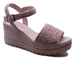 ISPARTALILAR - Enesse 927 Ortopedi Dolgu Topuk Kadın Sandalet Ayakkabı