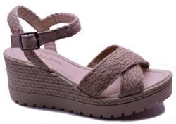 ISPARTALILAR - Enesse 928 Ortopedi Dolgu Topuk Kadın Sandalet Ayakkabı