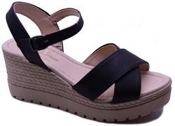 ISPARTALILAR - Enesse 929 Ortopedi Dolgu Topuk Kadın Sandalet Ayakkabı